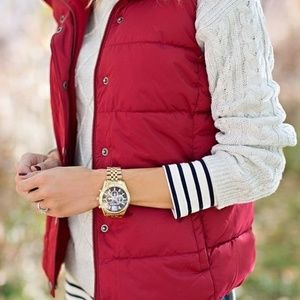 Jackets & Blazers - red puffer vest - XS also fits Small. LAND'S END